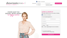 Showroomprive.nl website