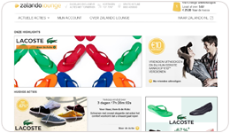 Zalando-Lounge website